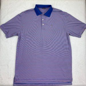Peter Millar Summer Comfort Red Blue Striped Polo